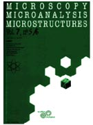Microscopy Microanalysis Microstructures Cover page
